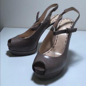 Enzo Angiolini Gray/Taupe Heels